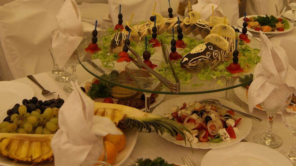 Красивые банкетные блюда